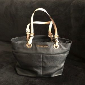 Michael Kors Black Tote with Beige straps
